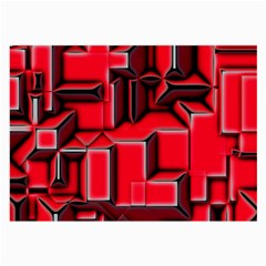 Background With Red Texture Blocks Large Glasses Cloth (2 Side)
