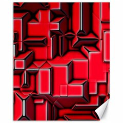 Background With Red Texture Blocks Canvas 11  x 14