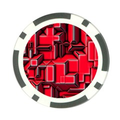 Background With Red Texture Blocks Poker Chip Card Guard
