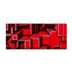 Background With Red Texture Blocks Cosmetic Storage Cases