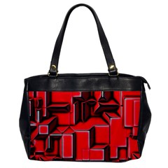 Background With Red Texture Blocks Office Handbags