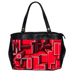 Background With Red Texture Blocks Office Handbags (2 Sides)