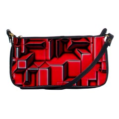 Background With Red Texture Blocks Shoulder Clutch Bags