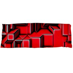 Background With Red Texture Blocks Body Pillow Case (dakimakura)