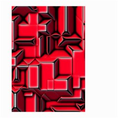 Background With Red Texture Blocks Small Garden Flag (two Sides)