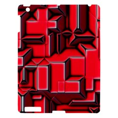 Background With Red Texture Blocks Apple iPad 3/4 Hardshell Case