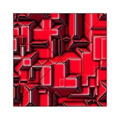 Background With Red Texture Blocks Acrylic Tangram Puzzle (6  X 6 )