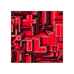 Background With Red Texture Blocks Acrylic Tangram Puzzle (4  x 4 )