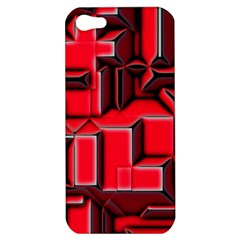 Background With Red Texture Blocks Apple iPhone 5 Hardshell Case
