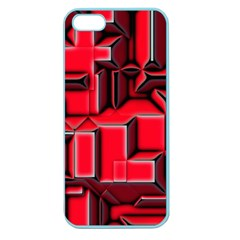 Background With Red Texture Blocks Apple Seamless Iphone 5 Case (color)