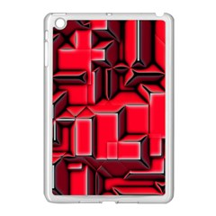 Background With Red Texture Blocks Apple iPad Mini Case (White)