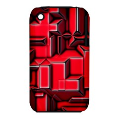Background With Red Texture Blocks Iphone 3s/3gs