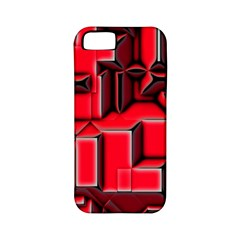 Background With Red Texture Blocks Apple Iphone 5 Classic Hardshell Case (pc+silicone)
