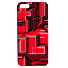 Background With Red Texture Blocks Apple Iphone 5 Hardshell Case With Stand