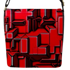 Background With Red Texture Blocks Flap Messenger Bag (S)