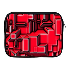 Background With Red Texture Blocks Apple Ipad 2/3/4 Zipper Cases