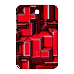 Background With Red Texture Blocks Samsung Galaxy Note 8.0 N5100 Hardshell Case