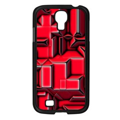 Background With Red Texture Blocks Samsung Galaxy S4 I9500/ I9505 Case (black)