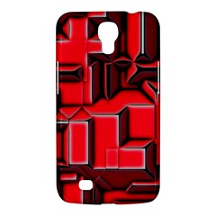 Background With Red Texture Blocks Samsung Galaxy Mega 6 3  I9200 Hardshell Case