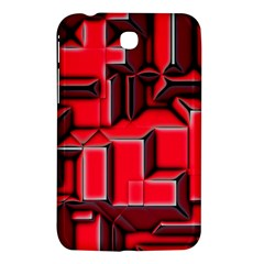 Background With Red Texture Blocks Samsung Galaxy Tab 3 (7 ) P3200 Hardshell Case