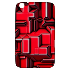 Background With Red Texture Blocks Samsung Galaxy Tab 3 (8 ) T3100 Hardshell Case