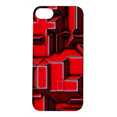 Background With Red Texture Blocks Apple Iphone 5s/ Se Hardshell Case