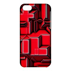 Background With Red Texture Blocks Apple iPhone 5C Hardshell Case