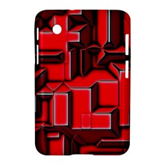 Background With Red Texture Blocks Samsung Galaxy Tab 2 (7 ) P3100 Hardshell Case