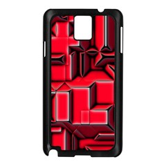Background With Red Texture Blocks Samsung Galaxy Note 3 N9005 Case (black)