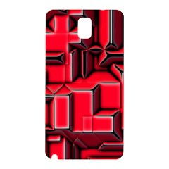 Background With Red Texture Blocks Samsung Galaxy Note 3 N9005 Hardshell Back Case