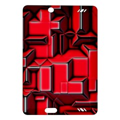Background With Red Texture Blocks Amazon Kindle Fire Hd (2013) Hardshell Case