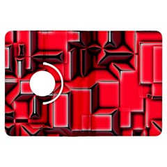 Background With Red Texture Blocks Kindle Fire Hdx Flip 360 Case