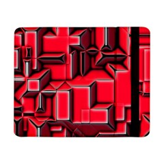 Background With Red Texture Blocks Samsung Galaxy Tab Pro 8 4  Flip Case