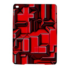 Background With Red Texture Blocks Ipad Air 2 Hardshell Cases
