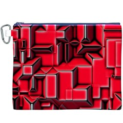 Background With Red Texture Blocks Canvas Cosmetic Bag (XXXL)