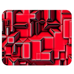Background With Red Texture Blocks Double Sided Flano Blanket (Medium)