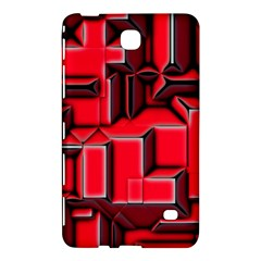 Background With Red Texture Blocks Samsung Galaxy Tab 4 (8 ) Hardshell Case