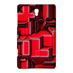 Background With Red Texture Blocks Samsung Galaxy Tab S (8.4 ) Hardshell Case