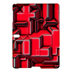 Background With Red Texture Blocks Samsung Galaxy Tab S (10 5 ) Hardshell Case