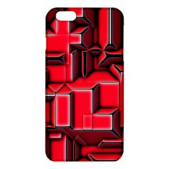 Background With Red Texture Blocks iPhone 6 Plus/6S Plus TPU Case
