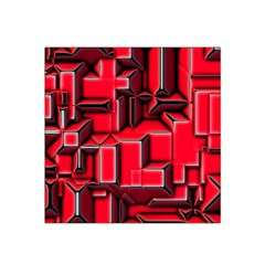 Background With Red Texture Blocks Satin Bandana Scarf
