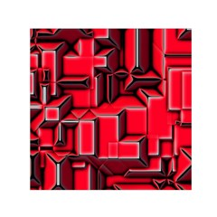 Background With Red Texture Blocks Small Satin Scarf (square)