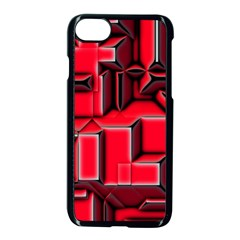 Background With Red Texture Blocks Apple Iphone 7 Seamless Case (black)
