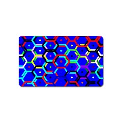 Blue Bee Hive Pattern Magnet (name Card)