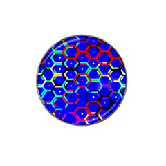 Blue Bee Hive Pattern Hat Clip Ball Marker (4 Pack)