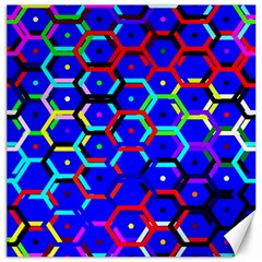 Blue Bee Hive Pattern Canvas 12  X 12