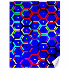 Blue Bee Hive Pattern Canvas 36  X 48