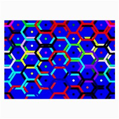 Blue Bee Hive Pattern Large Glasses Cloth