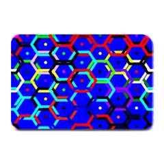 Blue Bee Hive Pattern Plate Mats