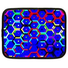 Blue Bee Hive Pattern Netbook Case (large)